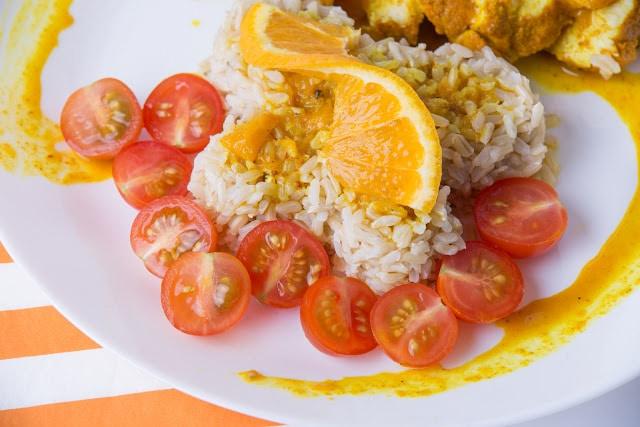 Aromatyczny kurczak w pomarańczy