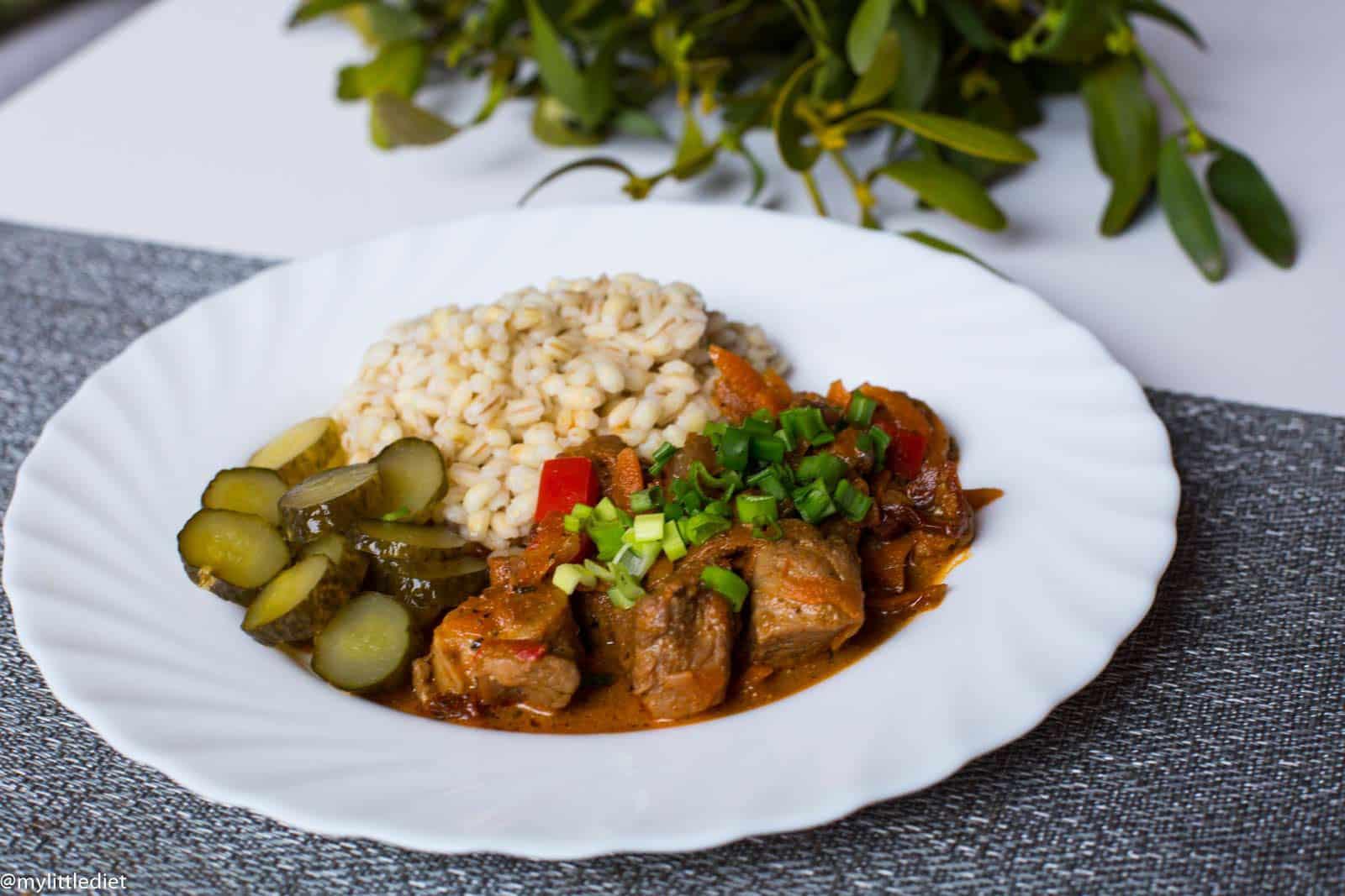 Gulasz z indyka, czyli misz masz na obiad